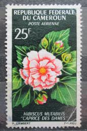 Poštovní známka Kamerun 1966 Ibišek okrasný Mi# 466