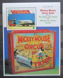 Poštovní známka Svatý Vincenc 1995 Disney, vánoce Mi# Block 361