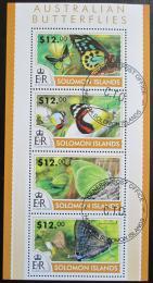 Poštovní známky Šalamounovy ostrovy 2015 Motýli Mi# 3107-10 Kat 17€