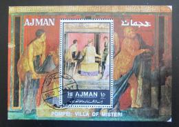 Poštovní známka Adžmán 1972 Umìní z Pompejí Mi# Block 448