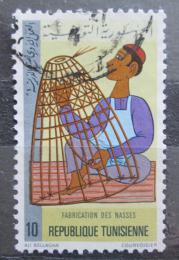 Poštovní známka Tunisko 1979 Výroba rybáøské sítì Mi# 954