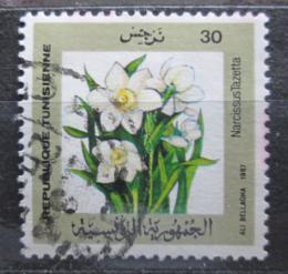 Poštovní známka Tunisko 1987 Narcis taceta Mi# 1160