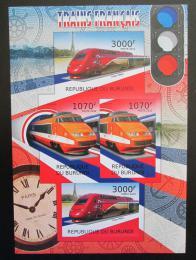 Poštovní známky Burundi 2012 Francouzské lokomotivy neperf. Mi# 2441,2443 B