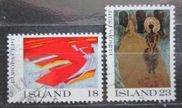 Poštovní známky Island 1975 Evropa CEPT, umìní Mi# 502-03