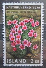 Poštovní známka Island 1970 Lomikámen vstøícnolistý Mi# 447
