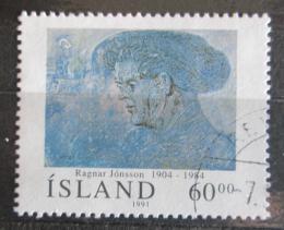 Poštovní známka Island 1991 Umìní, Ragnar Jónsson Mi# 751