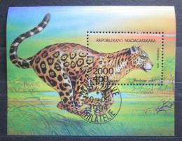 Poštovní známka Madagaskar 1994 Jaguár Mi# Block 261