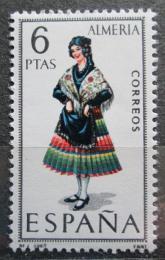 Poštovní známka Španìlsko 1967 Lidový kroj Almeria Mi# 1681