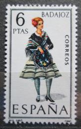 Poštovní známka Španìlsko 1967 Lidový kroj Badajoz Mi# 1690