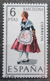 Poštovní známka Španìlsko 1967 Lidový kroj Barcelona Mi# 1707