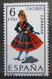 Poštovní známka Španìlsko 1967 Lidový kroj Cáceres Mi# 1719