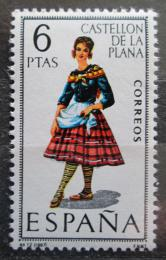 Poštovní známka Španìlsko 1967 Lidový kroj Castellón de la Plana Mi# 1733