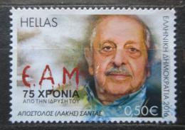Poštovní známka Øecko 2016 Apostolos (Lakis) Santas Mi# 2875