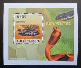 Poštovní známka Svatý Tomáš 2008 Hadi DELUXE Mi# 3362 Block