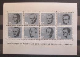 Poštovní známky Nìmecko 1964 Osobnosti Mi# Block 3 Kat 8€