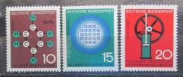 Poštovní známky Nìmecko 1964 Vìda a technika Mi# 440-42