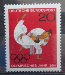 Poštovní známka Nìmecko 1964 LOH Tokio, judo Mi# 451