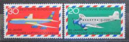 Poštovní známky Nìmecko 1969 Letadla Mi# 576-77