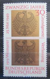 Poštovní známka Nìmecko 1969 Státní znaky Mi# 585