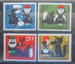 Poštovní známky Nìmecko 1960 Pohádky Mi# 340-43 Kat 4.50€