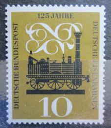 Poštovní známka Nìmecko 1960 Parní lokomotiva Adler Mi# 345