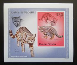 Poštovní známka Guinea-Bissau 2010 Koèkovité šelmy DELUXE neperf Mi# 5041 B Block