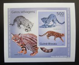 Poštovní známky Guinea-Bissau 2010 Koèkovité šelmy DELUXE neperf Mi# 5043 B Block