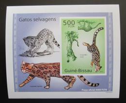 Poštovní známka Guinea-Bissau 2010 Koèkovité šelmy DELUXE neperf Mi# 5044 B Block