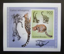 Poštovní známka Guinea-Bissau 2010 Koèkovité šelmy DELUXE neperf Mi# 5046 B Block