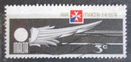 Poštovní známka Malta 1974 Založení Air Malta Mi# 486