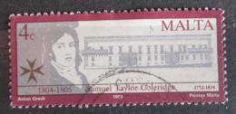 Poštovní známka Malta 1990 Samuel Taylor Coleridge, básník Mi# 837