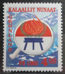 Poštovní známka Grónsko 1993 Mezinárodní rok pùvodních obyvatel Mi# 230
