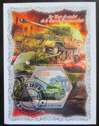 Poštovní známka Pobøeží Slonoviny 2018 Tanky z Druhé svìtové války Mi# N/N