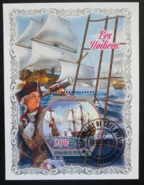 Poštovní známka Pobøeží Slonoviny 2018 Staré plachetnice Mi# N/N