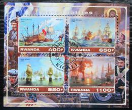 Poštovní známky Rwanda 2017 Váleèné lodì Mi# N/N
