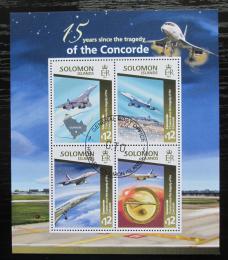 Poštovní známky Šalamounovy ostrovy 2015 Pád Concorde, 15. výroèí Mi# 3072-75 Kat 17€