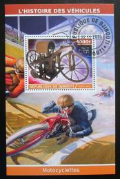 Poštovní známka Džibutsko 2015 Historické motocykly Mi# N/N
