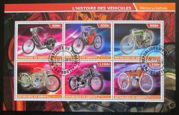 Poštovní známky Poštovní známky Džibutsko 2015 Historické motocykly Mi# N/N