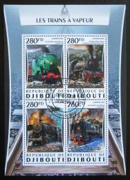 Poštovní známky Džibutsko 2016 Parní lokomotivy Mi# 1064-67 Kat 12€