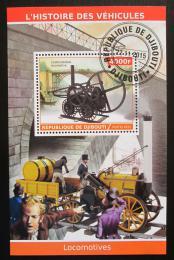 Poštovní známka Džibutsko 2015 Historické lokomotivy Mi# N/N