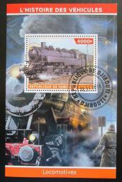 Poštovní známka Džibutsko 2015 Parní lokomotivy Mi# N/N