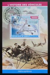 Poštovní známka Džibutsko 2015 Helikoptéry Mi# N/N