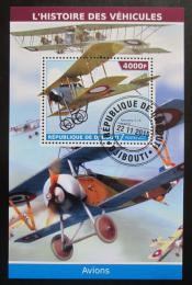 Poštovní známka Džibutsko 2015 Historická letadla Mi# N/N
