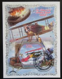 Poštovní známka Pobøeží Slonoviny 2018 Historická letadla Mi# N/N