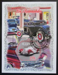 Poštovní známka Pobøeží Slonoviny 2018 Klasické automobily Mi# N/N