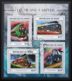 Poštovní známky Niger 2016 Parní lokomotivy Mi# 4442-45 Kat 13€