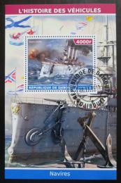 Poštovní známka Džibutsko 2015 Váleèná loï Mi# N/N
