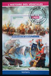Poštovní známky Džibutsko 2015 Váleèné plachetnice Mi# N/N
