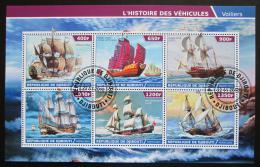 Poštovní známky Džibutsko 2015 Staré plachetnice Mi# N/N