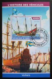 Poštovní známka Džibutsko 2015 Staré plachetnice Mi# N/N